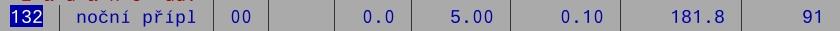 DM132 - noční příplatek - varianta II